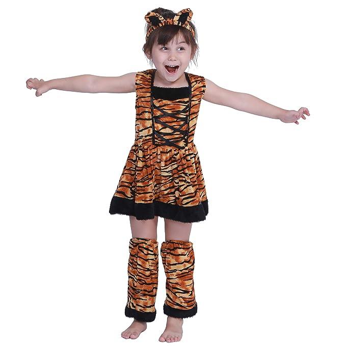 EraSpooky Tigre Niña Falda Disfraz Halloween: Amazon.es: Ropa y accesorios