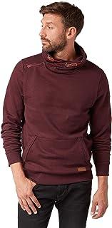 Tom Tailor Sweatpullover Mit Kangaroo Tasche Und XXL Kragen, Sudadera para Hombre Rojo (Grindle Dark Base Re 14555) XXX-Large Tom Tailor Casual 1006077