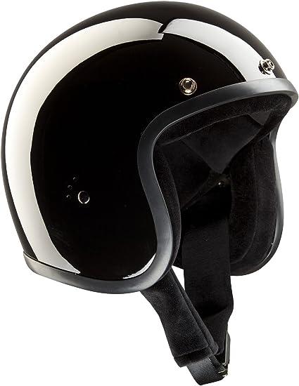 Band-It – Casco Jet semi-integral de moto, modelo clásico, con visera parasol, brillante, color negro M(57-58cm) glossy black: Amazon.es: Deportes y aire libre