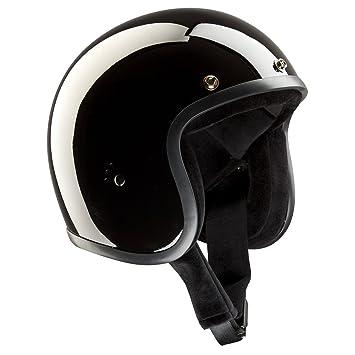 Casco Jet bandido - negro brillante casco de moto negro brillante Talla:XS(54cm