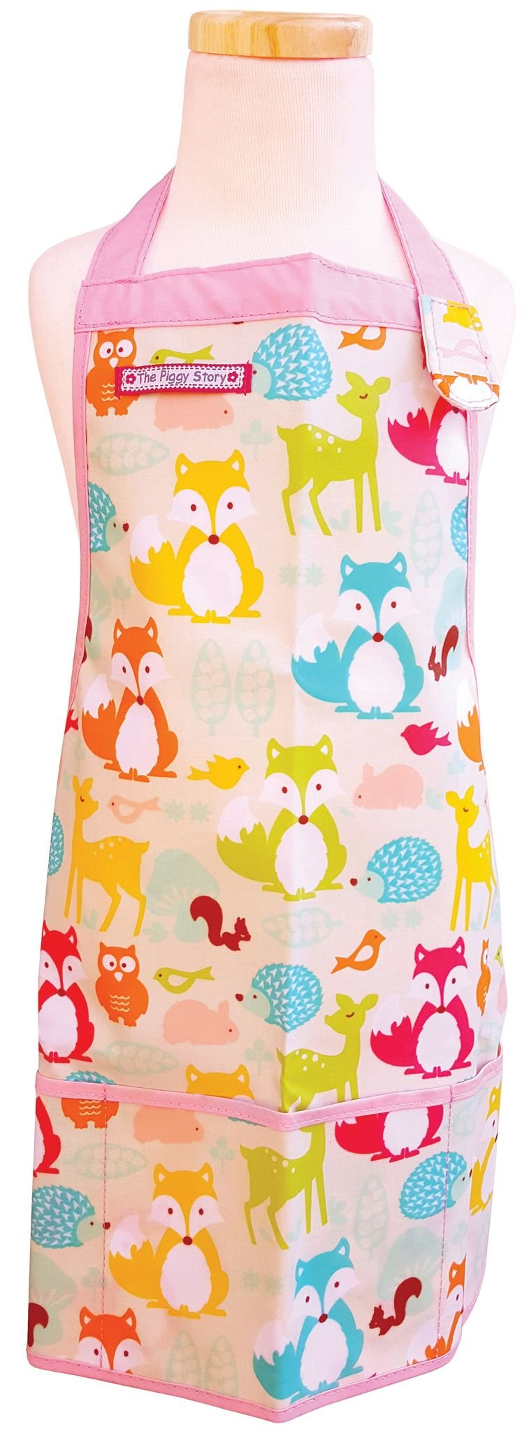 The Piggy Story 'Fox & Woodland Animals' Child's Fun Time Apron for Arts, Crafts and Cooking