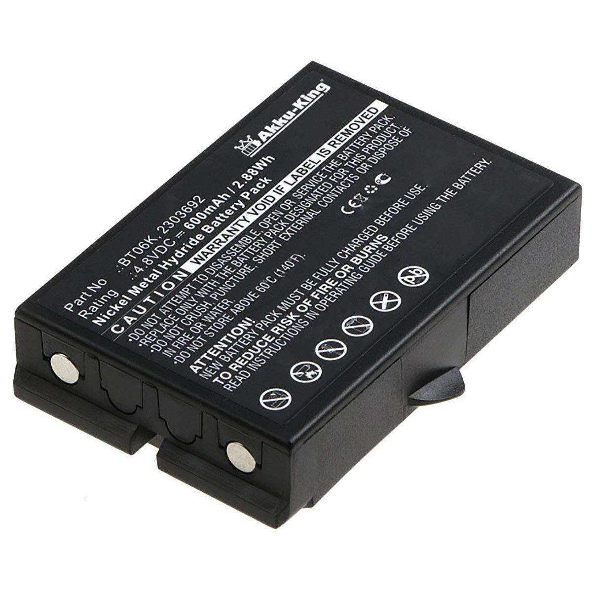 BT06K TM70 T70-1 RAD-TF transmitters T71 TM70//2 RAD-TS TM70//1 Akku-King bater/ía para Ikusi 2303692 Ni-Mh 600mAh como 2303692 T70-2 T72 ATEX transmitters