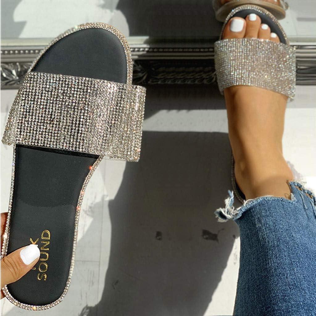 Sandals for Women Platform,2020 Newest Crystal Comfortable Flatform Sandal Shoes Summer Beach Travel Roman Shoes