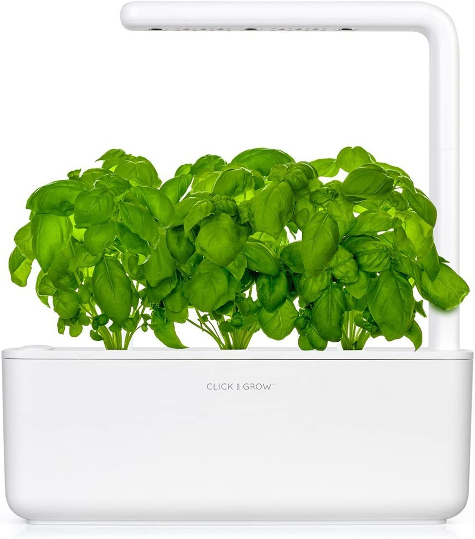 Click and Grow Smart Garden 3 Indoor Herb Garden Includes Basil Plant Pods , White