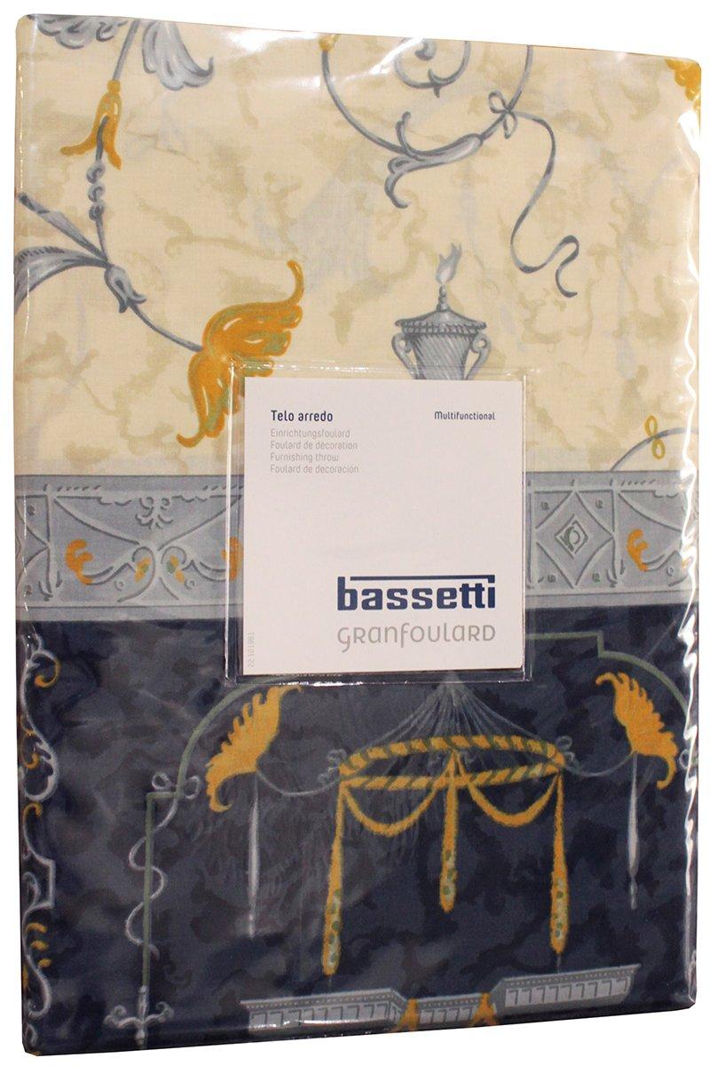 Foulard Per Divani Bassetti.Telo Multiuso Granfoulard D Arredo Bassetti Copridivano Copriletto Diverse Misure Foulard Cm 270 X 270 Oplontis Blu