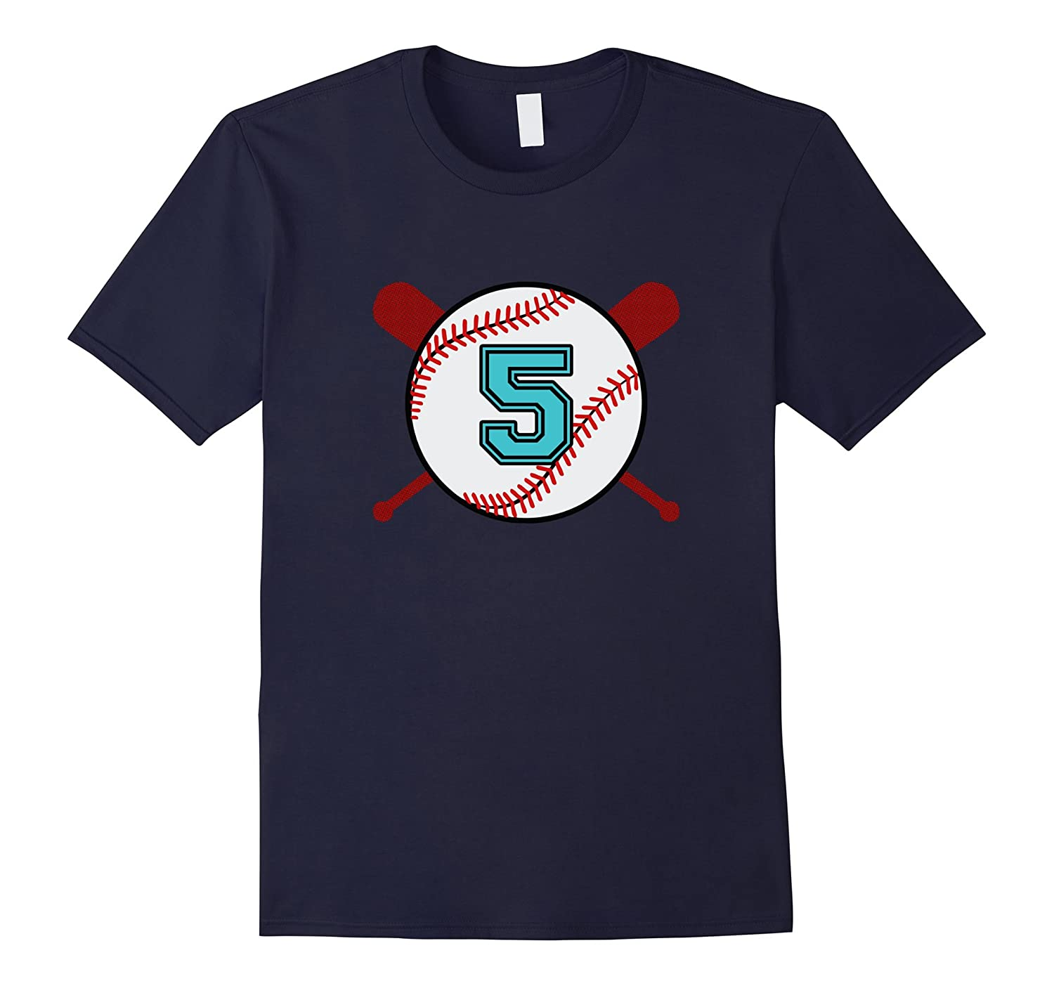 Vintage Baseball Jersey Number T-Shirt 5 Five-PL