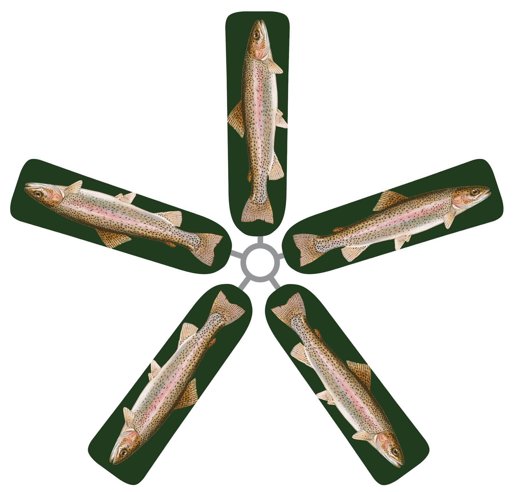 Fan Blade Designs Rainbow Trout Ceiling Fan Blade Covers
