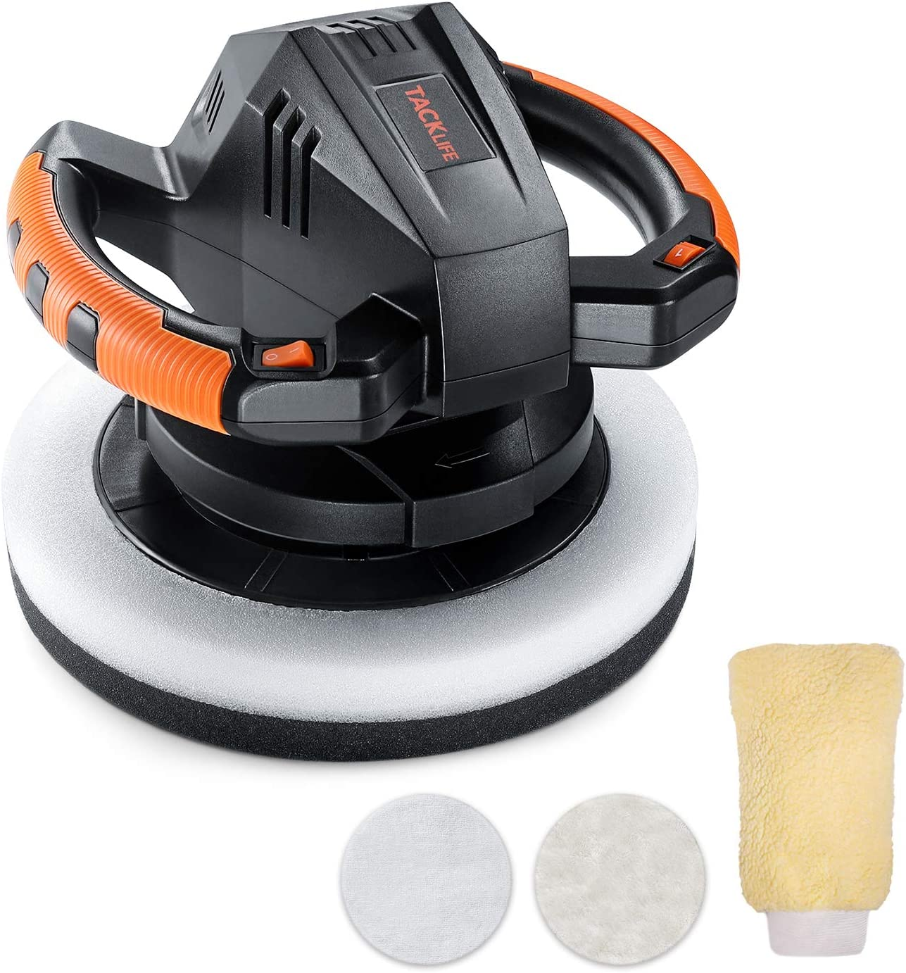 Waxer/Polisher, TACKLIFE 10-Inch Dual Action Random Orbital Car Buffer Polisher Waxer, 10Ft Power Cord, Variable Speed, With Polisher Pad Bonnets and Gloves, Ideal for Car Waxing - TCP01A