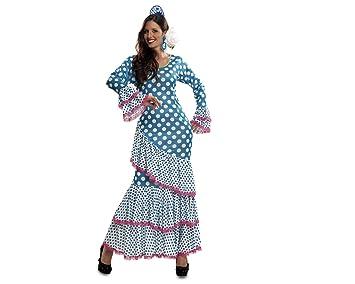 My Other Me Disfraz de Flamenca, talla M-L, color azul (Viving Costumes MOM01112