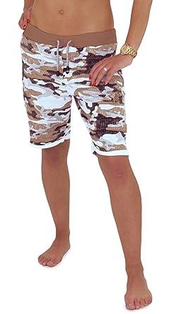 Shorts Hose Für Sweatshorts Camouflage Freizeitmode Bermuda Den Xs Militär Größe RedrumDamen Kurze Partnerlook Jogginghose q53j4ARL