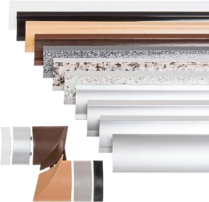 Holzbrink Kuchenabschlussleiste Schwarz Kuchenleiste Pvc Wandabschlussleiste Arbeitsplatten 23x23 Mm 150 Cm Amazon De Baumarkt