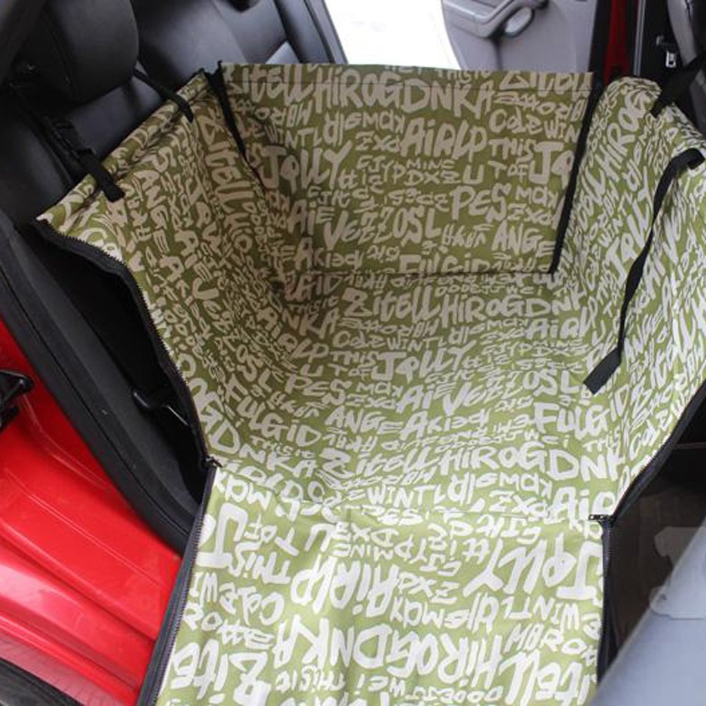 C Dog Car Seat Cover, Car Boot Liner Protector, Waterclosed Dog Hammock for Back Seat (Colore: C)