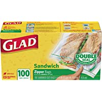 Glad Zipper Sandwich Bags ,100s