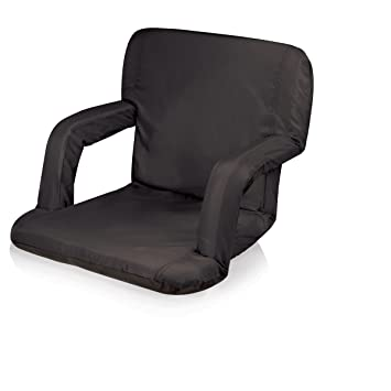 Picnic Time Portable Ventura Reclining Stadium Seat Black  sc 1 st  Amazon.com : reclining stadium seat - islam-shia.org