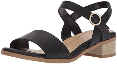 c479c9ac7b96 Dr. Scholl s Shoes Women s Westmont Heeled Sandal Black Snake Print ...