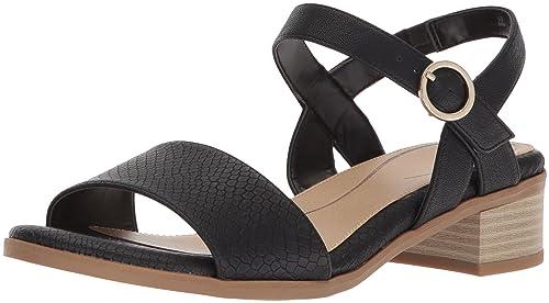 e4dfae68d19 Dr. Scholl s Shoes Women s Westmont Heeled Sandal Black Snake Print ...