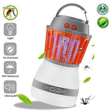 OWODA Farol de Camping LED Mosquito Zapper Luz USB Recargable,Tienda de campaña