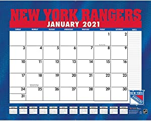 TURNER Sports New York Rangers 2021 22X17 Desk Calendar (21998061558)