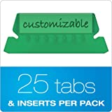 "Pendaflex Hanging Folder Tabs, 2"", Clear Green, 25"