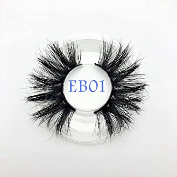 ba64d109ca8 Amazon.com : New arrival mink lashes 25mm natural long 3D mink strip fur  handmade eyelashes wholesale price, EB01 : Beauty
