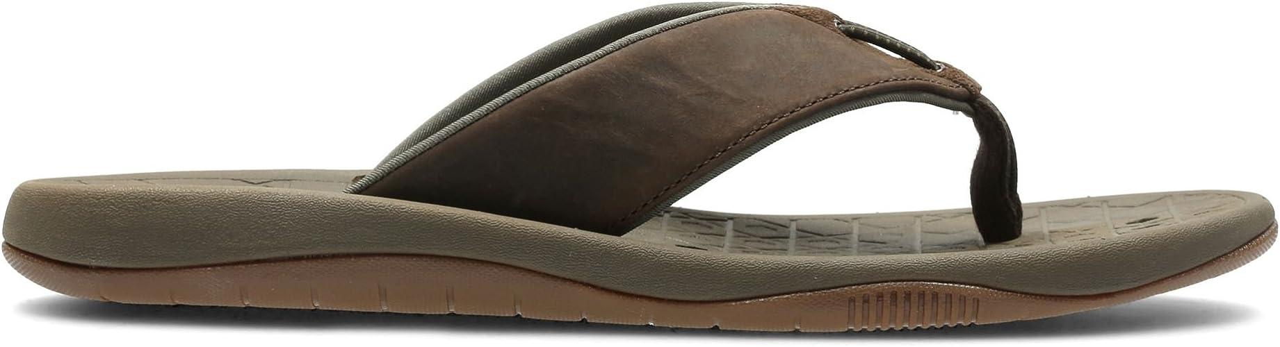 cera Paisaje Ilegible  Clarks Mens Toe Post Sandalias de verano Bosun Coast, color Marrón, talla  42.5 EU: Amazon.es: Zapatos y complementos