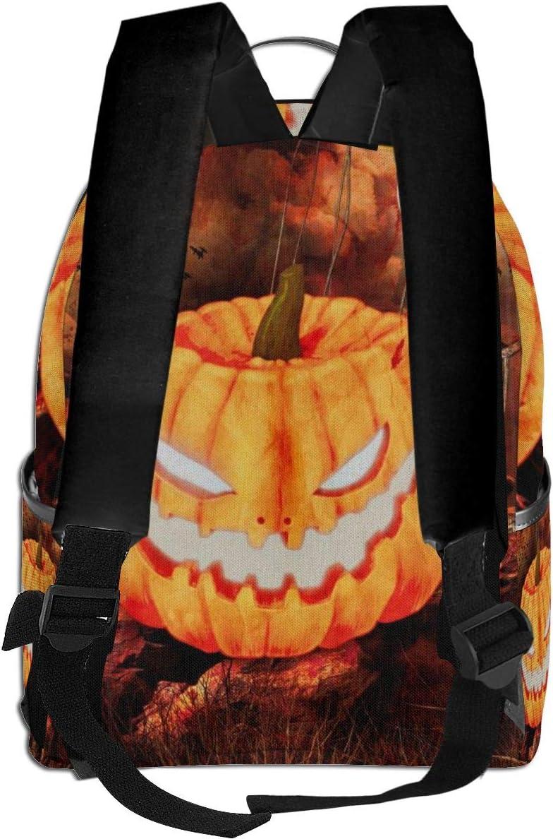 Evil Pumpkin Crow On Halloween Multi-Functional College Bags Students High School Girls Casual Daypack Kids Travel Backpack School Laptop Bookbags Teens Boy Outdoor Accessories