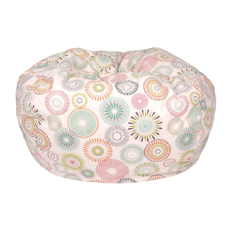 Gold Medal Bean Bags Cotton Bean Bag with Starburst Pinwheel - Beige, Small/Toddler