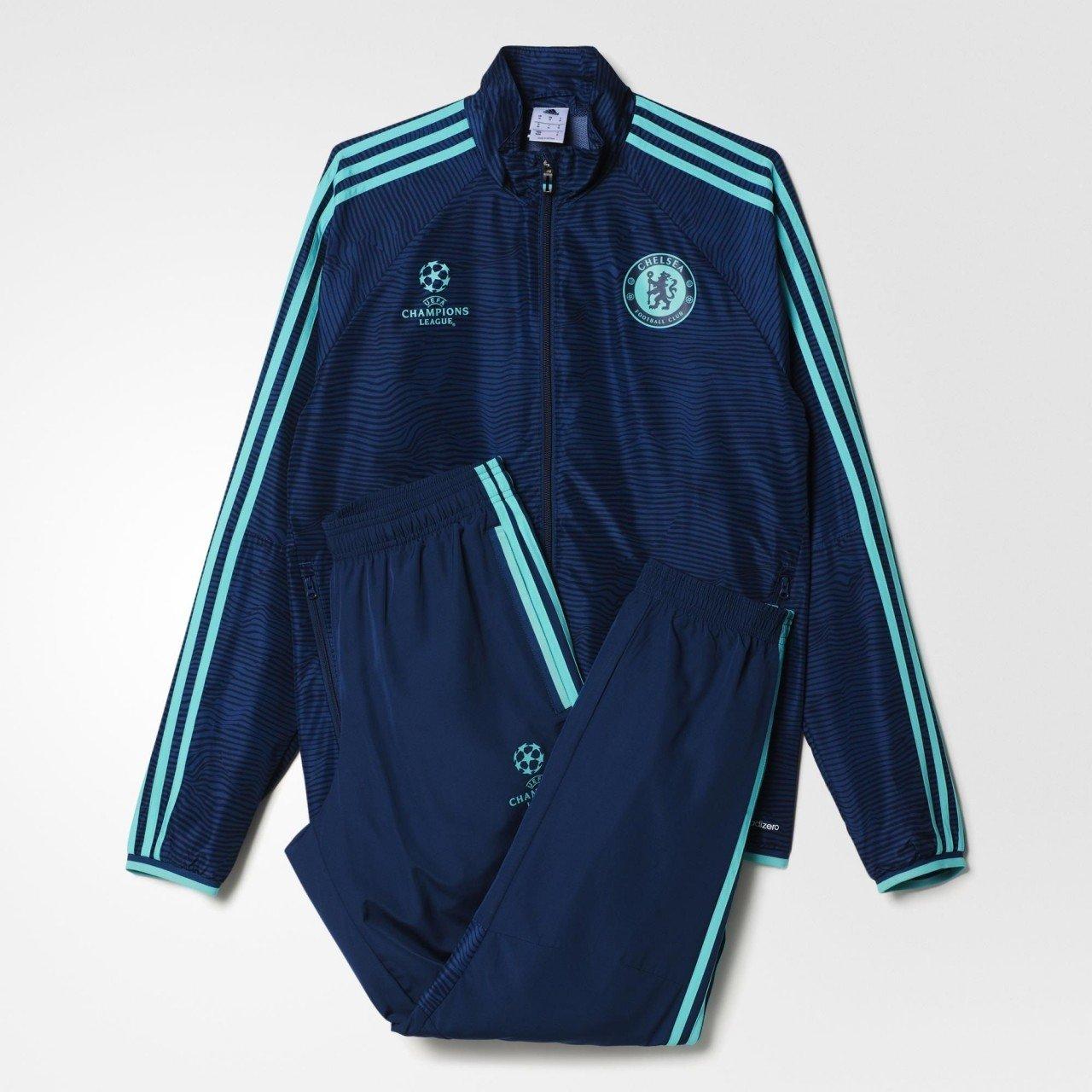 adidas CFC EU Pre Suit Chándal, Hombre, Azul/Turquesa, XL: Amazon ...