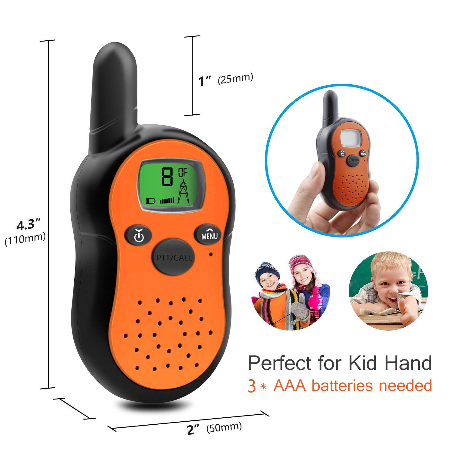 TiMi Tree Walkie Talkies for Kids Toddlers Two Way Radios Toy Voice Activated Long Range, Outdoor Exploration Gifts for Age 5 6 7 Year Old Boys Girls by TiMi Tree (Image #2)