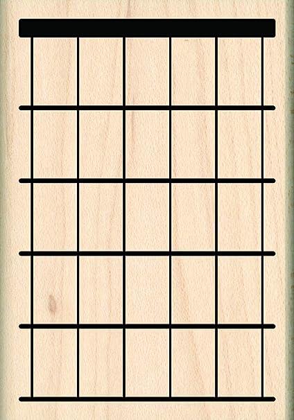 Sello de goma para guitarra, 6 cuerdas, 5 trastes: Amazon.es ...