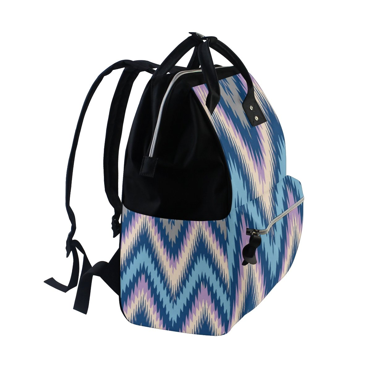 Diaper Bags Backpack Purse Mummy Backpack Fashion Mummy Maternity Nappy Bag Cool Cute Travel Backpack Laptop Backpack with Ethnic Blue Detail Daypack for Women Girls Kids