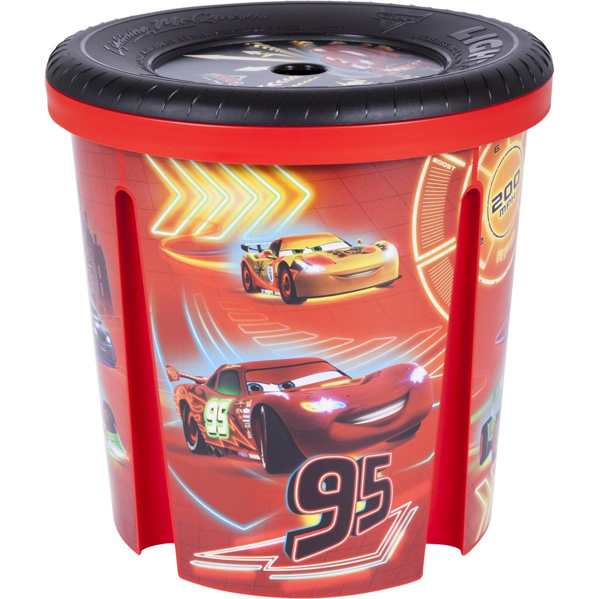 Curver 180740Disney barile portaoggetti Cars rosso 00300-C07-00