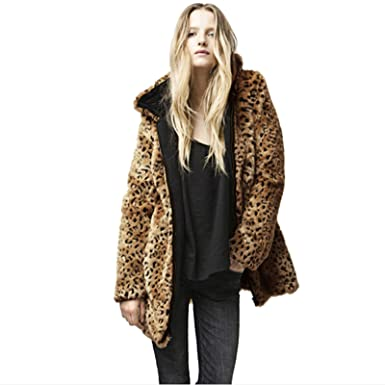79c415e73 FUMUD Thick Long Fake Fox Fur Jacket with Hood Women Winter Leopard Faux  Fox Fur Jackets