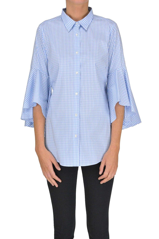 Sara Roka Women's MCGLTPC000005068E Light bluee Cotton Shirt