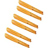 12pcs Natural Ear Candles Cone Beewax Ear Candle Treatment Ear Candling Aromatherapy for Ear Healthy Care Orange