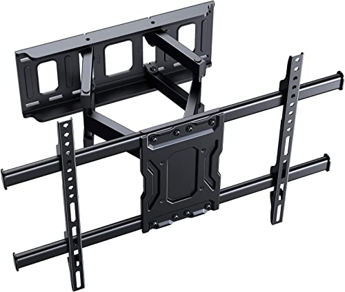 ERGO TAB Full Motion TV Wall Mount Articulating Swivel Extension Arm Fit Most 37-75 inch LED LCD OLED 4K Flat Curved TV up to 132lbs Max VESA 600x400mm EBLF7