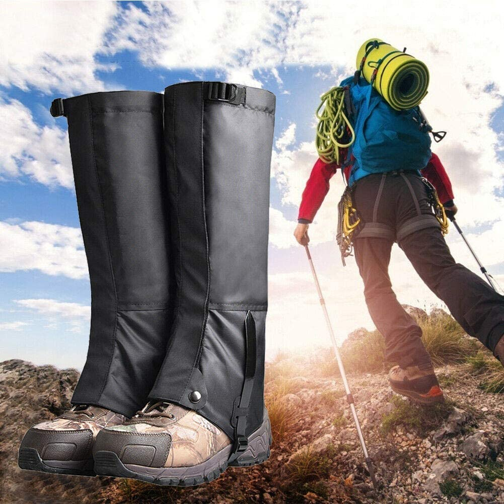 Rockputtee Outdoor Leg Gaiters Waterproof Breathable for Hiking Climbing Hunting Snow Ski Boot Gaiters Guard Legging Leg Cover Wraps