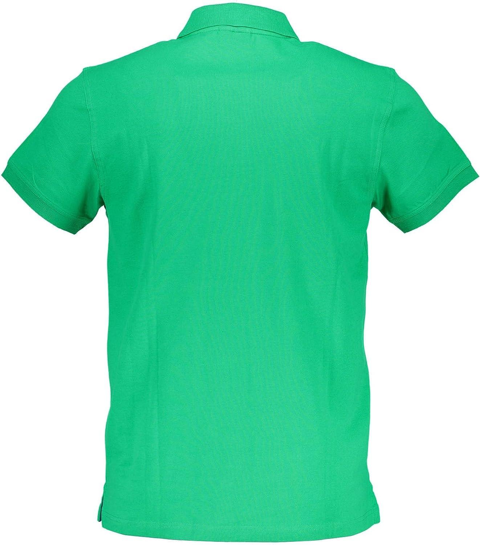 GANT heren Contrast Collar Pique Ss Rugger poloshirt Verde 313
