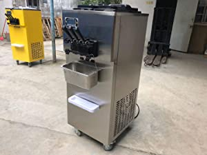 High Capacity 3 Flavors Taylor Soft Serve ice Cream Machine 2+1 Mixed Flavors Soft ice Cream Machine auto precooling,Counting Function with Full Refrigerant,Stainless Steel Beater,Gear Box