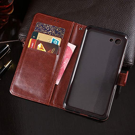 Amazon.com: Elephone S7 Case, PU Leather Stand Wallet Flip ...