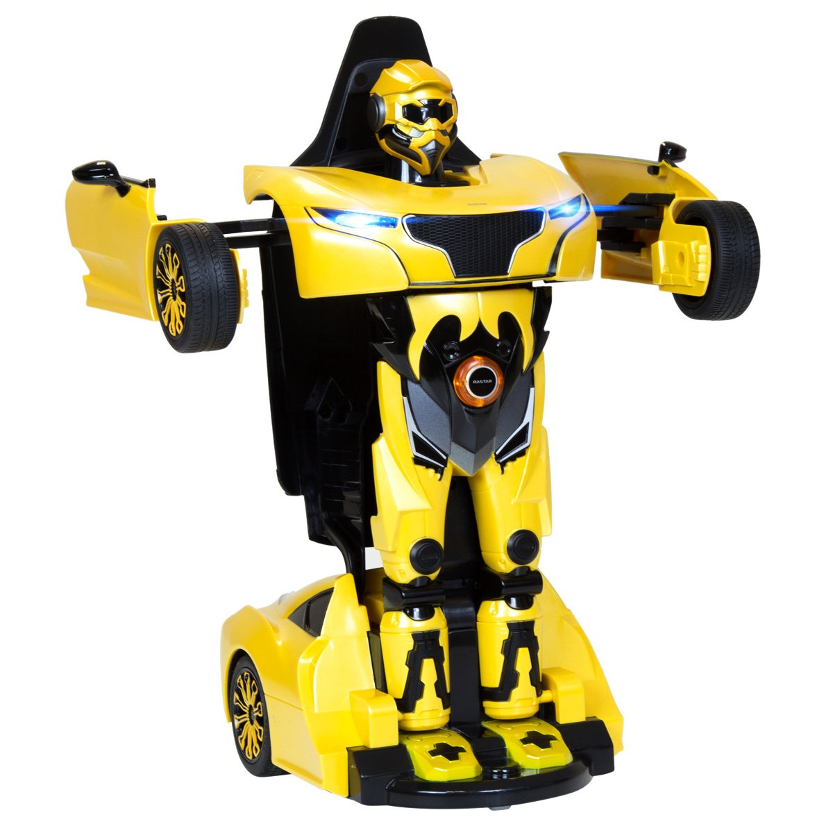 Charles Bentley RS X Man Rastar Licensed Transformer Robot Telecomando Auto 2 in 1 Giocattolo - Giallo