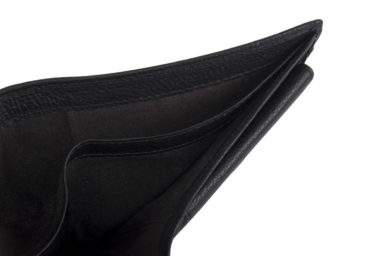 Cartera hombre PIERRE CARDIN negro en cuero con monedero y solapa A5511