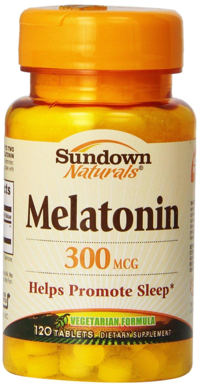 Amazon.com: Sundown Naturals Melatonin, 300 mcg, Tablets, 120 tablets Pack of 5: Health & Personal Care