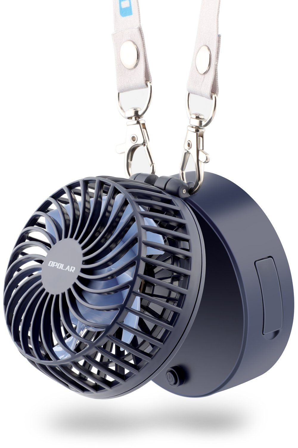 OPOLAR Necklace Fan Powered by 3350mAh Battery, Rechargeable Personal Fan, 3 Setting, 7-20H Working Hours,180° Rotating Free Adjustment for Camping/Outdoors/Travel
