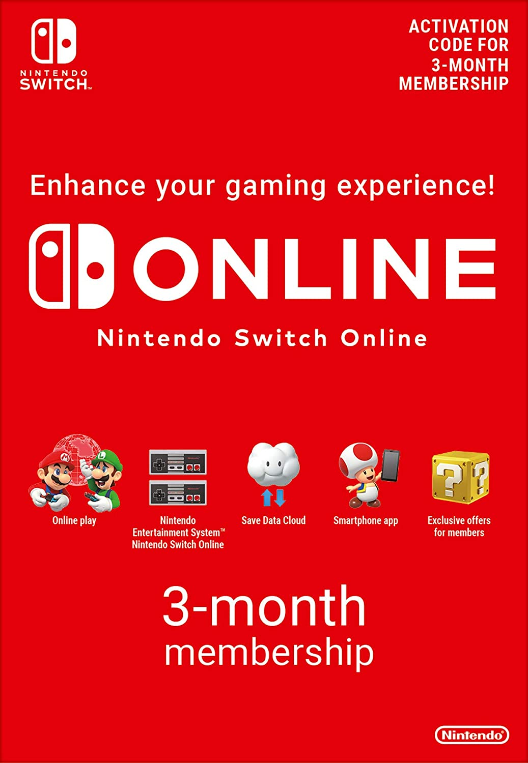 Nintendo Switch Online Membership - 3 Months | Switch