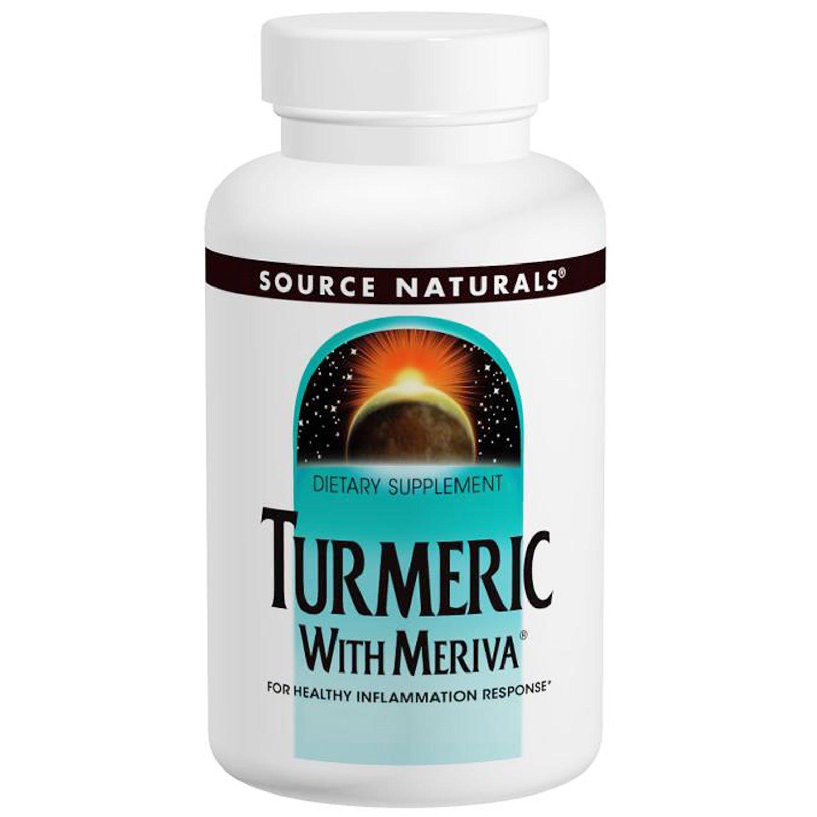Source Naturals Turmeric with Meriva 500mg - 120 Capsules (2 Pack)