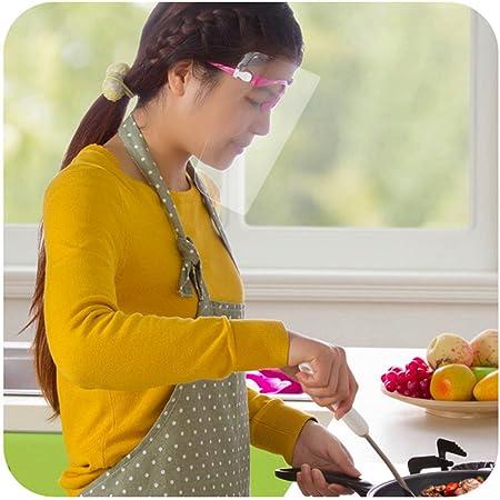 Sue Supply Evita la cocción de aceite quemado salpicaduras cocción transparente grasa a prueba de salpicaduras máscara facial, protector de cara cubierta máscara protectora para cocina corte cocina cocina cocina: Amazon.es: Hogar