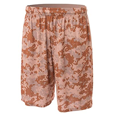 "A4 Big Boys' 8"" Printed Camo Performance Short"