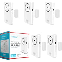 Tritace Universal Door/Window Alarm with Vibration and Magnet Sensor - Pool Door Alarm with Loud 120db Ring - Security…