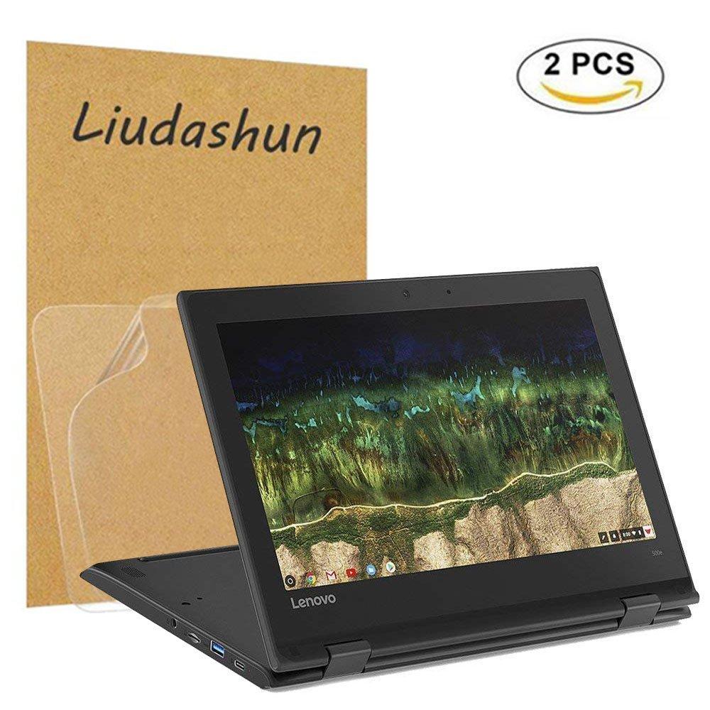 Lenovo 500e Chromebook Screen Protector,HD Clear LCD Anti-Scratch Anti-Fingerprints Guard Film For 11.6'' Lenovo 500e Chromebook 2-in-1 Laptop(2-pack) by Liudashun (Image #1)
